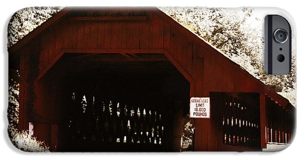Covered Bridge iPhone Cases - Covered Bridge iPhone Case by Marilyn Hunt