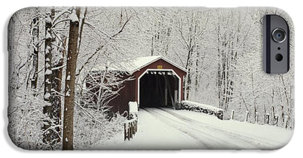 Covered Bridge iPhone Cases - Covered Bridge Pa iPhone Case by Panoramic Images