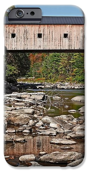 Covered Bridge Vermont iPhone Case by Edward Fielding