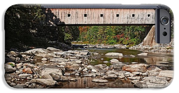 Covered Bridge iPhone Cases - Covered Bridge Vermont iPhone Case by Edward Fielding