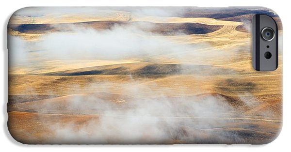 Mist iPhone Cases - Covering the Gold iPhone Case by Mike  Dawson