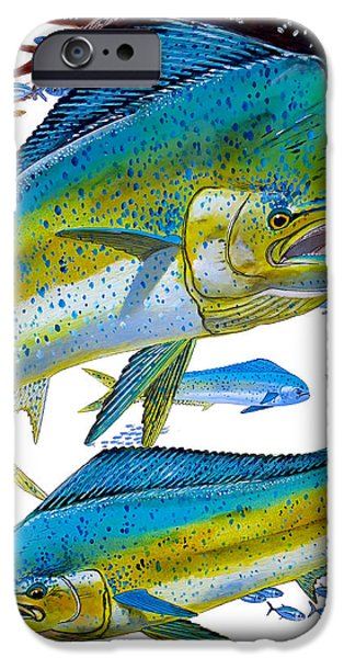 Wild Trout iPhone Cases - Cow and Bull iPhone Case by Carey Chen