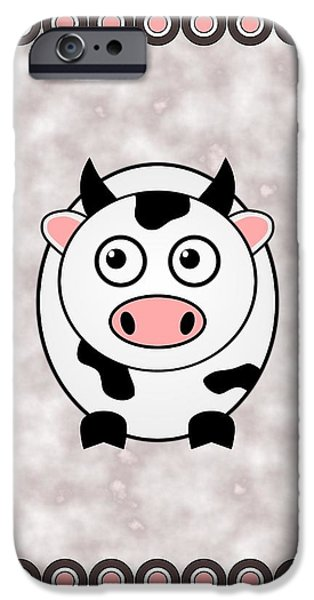 Little iPhone Cases - Cow - Animals - Art for Kids iPhone Case by Anastasiya Malakhova