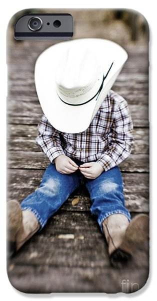 Cowboy iPhone Case by Scott Pellegrin