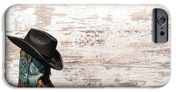 Cowgirl iPhone Cases - Cowgirl Boots iPhone Case by Olivier Le Queinec