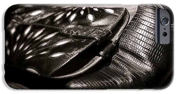 Boots iPhone Cases - Cowgirl Gator Boots iPhone Case by Olivier Le Queinec