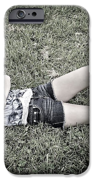 Cowgirl in Clover iPhone Case by Susan Leggett