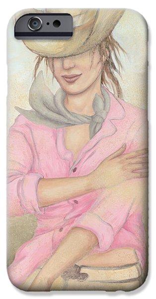 Cowgirl iPhone Case by Judith Grzimek