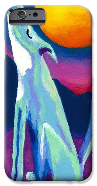 Moon Pastels iPhone Cases - Coyote Azul iPhone Case by Stephen Anderson