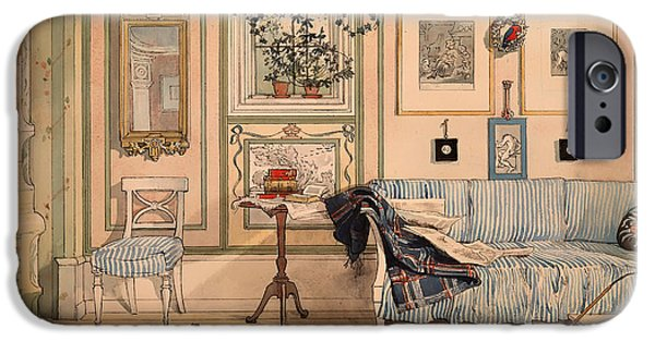 House Pet Paintings iPhone Cases - Cozy Corner iPhone Case by Larsson