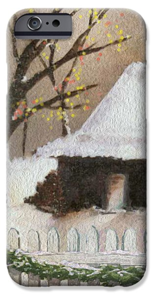 Cozy Cottage iPhone Case by Cheryl Young