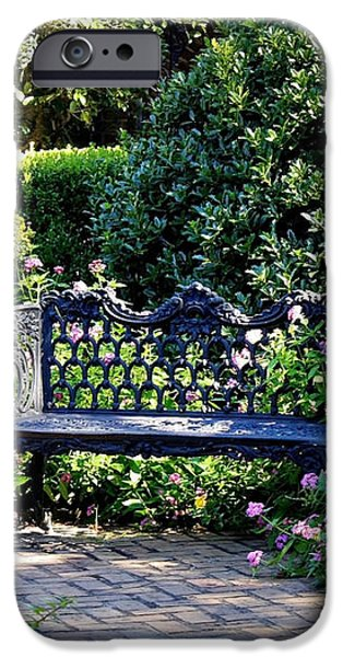 Cozy Southern Garden Bench iPhone Case by Carol Groenen