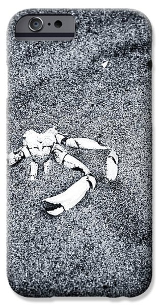 Crab in the Sand iPhone Case by John Rizzuto
