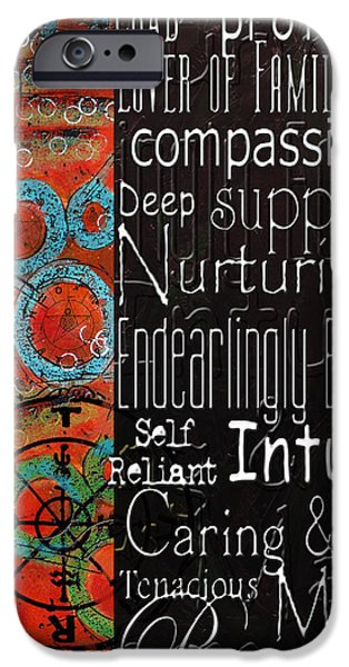 Astrology Paintings iPhone Cases - Crab of the Star Cancer 2 iPhone Case by Corporate Art Task Force