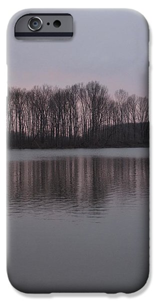 Crab Orchard Lake at Peace - 3 iPhone Case by Frank Chipasula