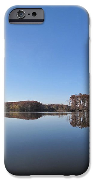 Crab Orchard Lake's Blue Mood iPhone Case by Frank Chipasula
