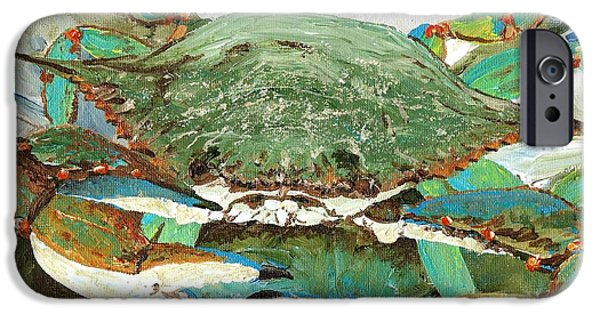 Crabbing iPhone Cases - CrabNBowl iPhone Case by Keith Wilkie
