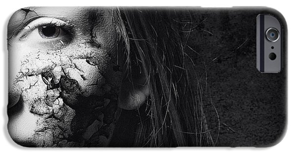 Attractive iPhone Cases - Cracked Face iPhone Case by Erik Brede