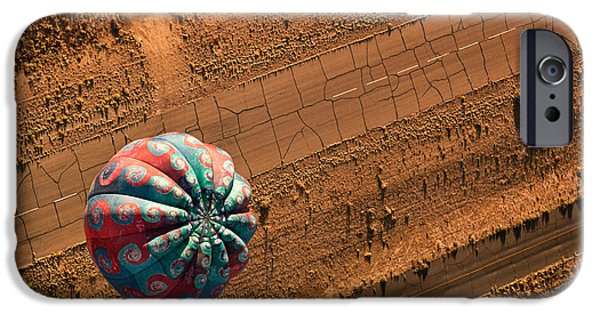 Hot Air Balloon iPhone Cases - Cracked Highway iPhone Case by Keith Berr