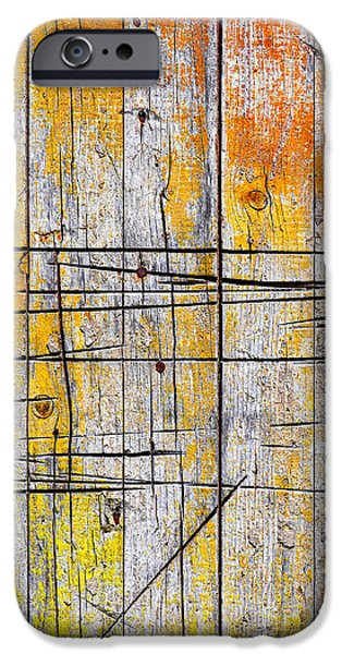 cracked wood background iPhone Case by Carlos Caetano