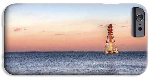 House Md iPhone Cases - Craighill Channel Lighthouse iPhone Case by JC Findley