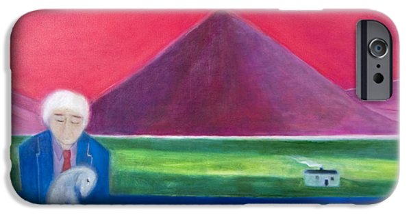 Outdoors iPhone Cases - Craigie Going Home, 2011 Oil On Canvas iPhone Case by Roya Salari