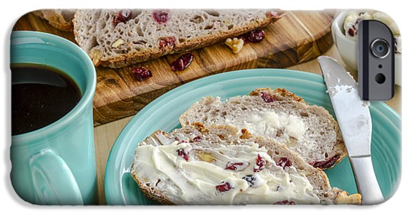 Loaf Of Bread iPhone Cases - Cranberry Walnut Bread iPhone Case by Teri Virbickis