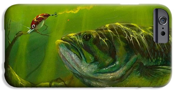 Fresh Water Fish iPhone Cases - Cranking  iPhone Case by Yusniel Santos