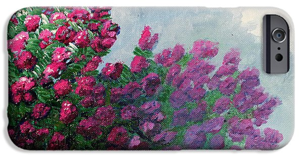 Fog Mist iPhone Cases - Crape Myrtle iPhone Case by Maura Satchell