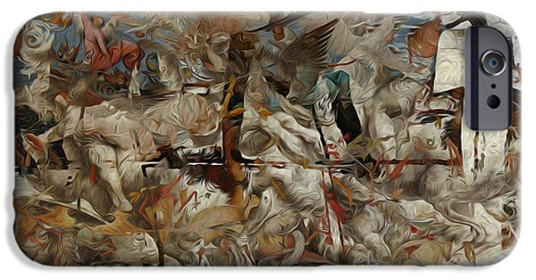 Abstract Digital Art iPhone Cases - Crash of Civilizations iPhone Case by M Hammami