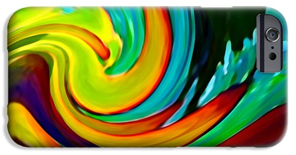 Beach Landscape Digital iPhone Cases - Crashing Wave iPhone Case by Amy Vangsgard