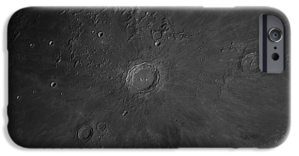 Copernicus iPhone Cases - Crater Copernicus Region iPhone Case by John Chumack