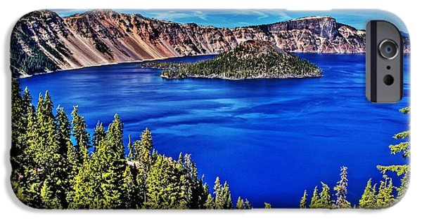 Craters iPhone Cases - Crater Lake iPhone Case by Benjamin Yeager
