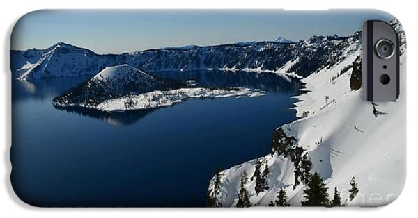 House iPhone Cases - Crater Lake National Park iPhone Case by Tina Wentworth