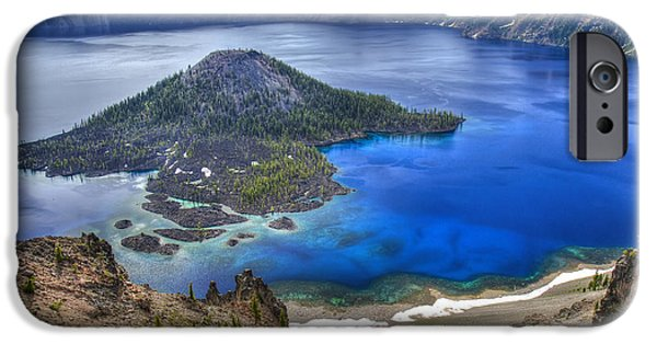 Craters iPhone Cases - Crater Lake Oregon iPhone Case by Pierre Leclerc Photography