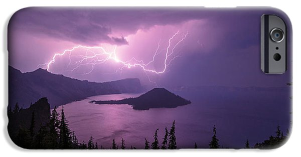 Oregon iPhone Cases - Crater Storm iPhone Case by Chad Dutson
