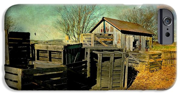 Wooden Crate iPhone Cases - Cratesn Cabin iPhone Case by Diana Angstadt