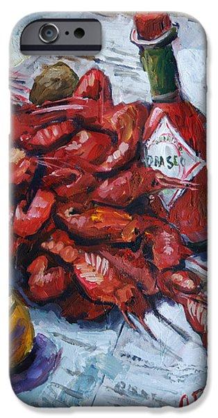 Crawfish iPhone Cases - Crawfish Tabasco iPhone Case by Carole Foret
