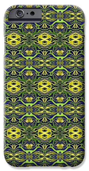 Best Sellers -  - Abstract Digital Tapestries - Textiles iPhone Cases - CrazieArt Designs - e iPhone Case by Thia Stover