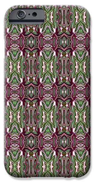 Abstract Digital Tapestries - Textiles iPhone Cases - CrazieArt Designs by Thia - Enya iPhone Case by Thia Stover