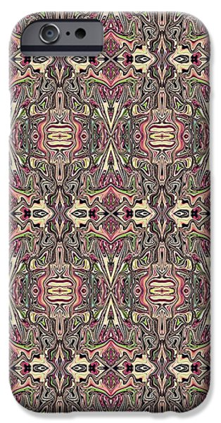 Abstract Digital Tapestries - Textiles iPhone Cases - CrazieArt Designs by Thia - Helina iPhone Case by Thia Stover