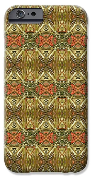 Abstract Digital Tapestries - Textiles iPhone Cases - CrazieArt Designs by Thia - Kiana iPhone Case by Thia Stover