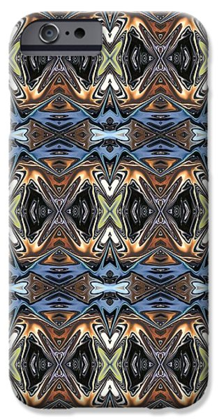 Abstract Digital Tapestries - Textiles iPhone Cases - CrazieArt Designs by Thia - Lalia iPhone Case by Thia Stover