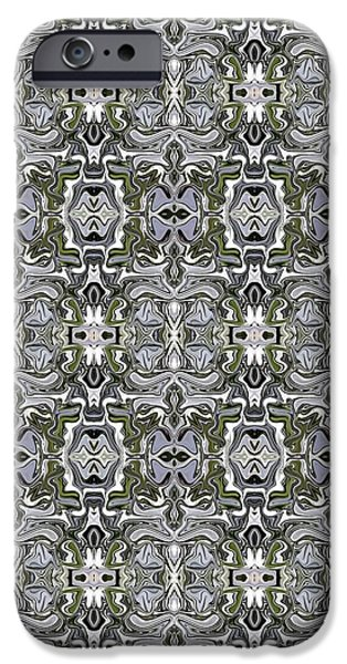 Abstract Digital Tapestries - Textiles iPhone Cases - CrazieArt Designs by Thia - Michelle iPhone Case by Thia Stover