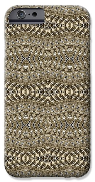 Abstract Digital Tapestries - Textiles iPhone Cases - CrazieArt Designs by Thia - Nessa 2 iPhone Case by Thia Stover