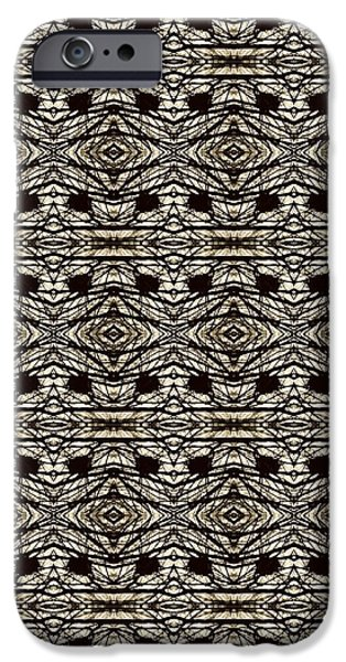 Abstract Digital Tapestries - Textiles iPhone Cases - CrazieArt Designs by Thia - Olivia 2 iPhone Case by Thia Stover