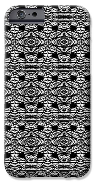 Abstract Digital Tapestries - Textiles iPhone Cases - CrazieArt Designs by Thia - Olivia 3 iPhone Case by Thia Stover