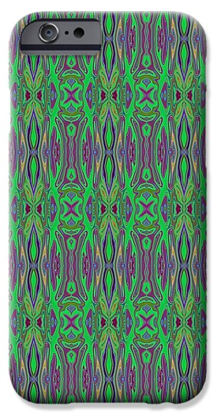 Abstract Digital Tapestries - Textiles iPhone Cases - CrazieArt Designs by Thia - Paulette iPhone Case by Thia Stover