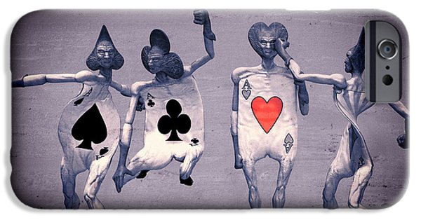 Strange iPhone Cases - Crazy Aces iPhone Case by Bob Orsillo