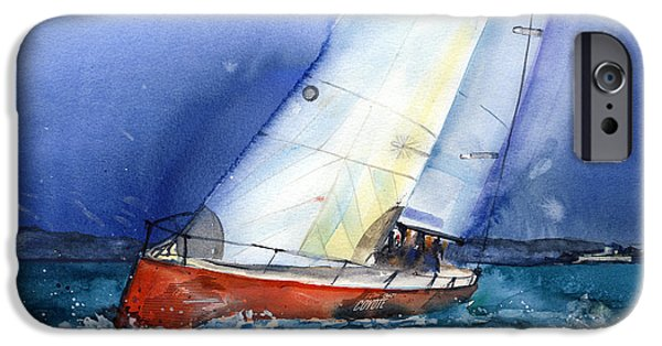 Recently Sold -  - Sailboat iPhone Cases - Crazy Coyote - sailboat iPhone Case by Ira Ivanova
